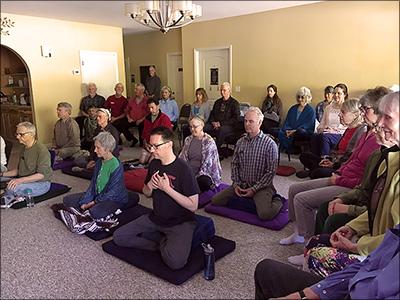 Meditation group at Asheville Insight Meditation