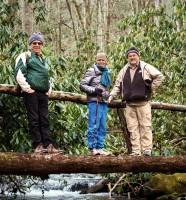 Asheville Insight Meditation members hiking at Cataloochee Valley