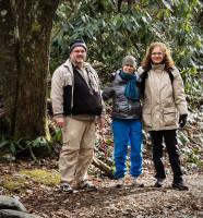 Hikers at Cataloochee Valley