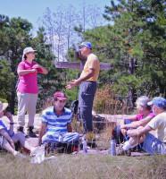 Asheville Insight Meditation hiking group at Cedar Rock