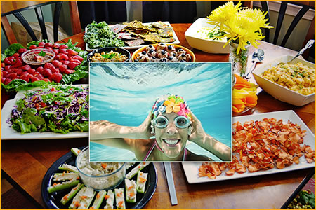 Potluck pool party