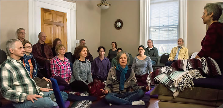 Sangha at Asheville Insight Meditation